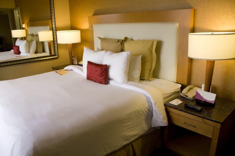Comfortable hotel room stock photo