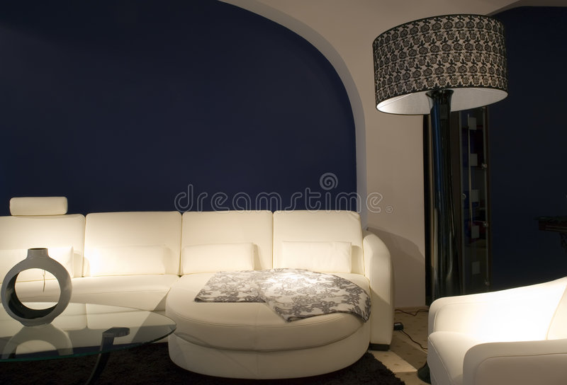 Comfortable lounge area stock photos