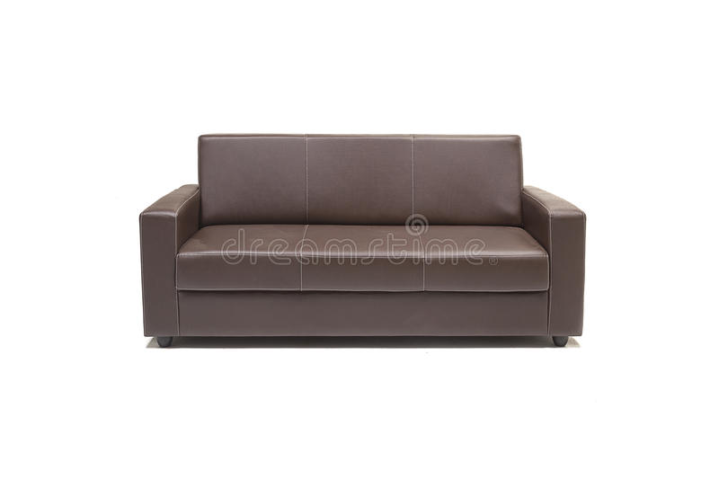 Comfortable luxury sofa set made of highest quality lenin and leather in beige color. Comfortable luxury sofa made of highest quality with out cushions stock photography