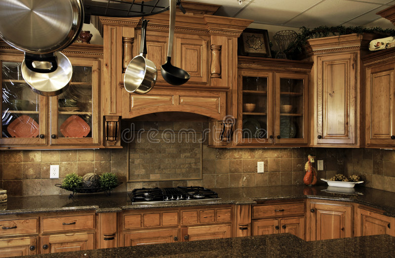 Comfortable modern kitchen royalty free stock photo