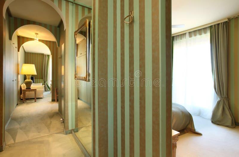 Comfortable suit , corridor stock photo