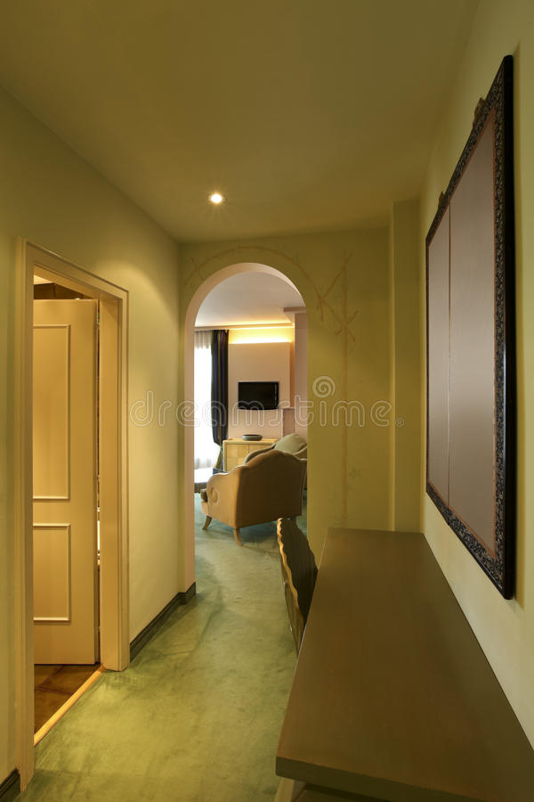 Comfortable suite, corridor royalty free stock image