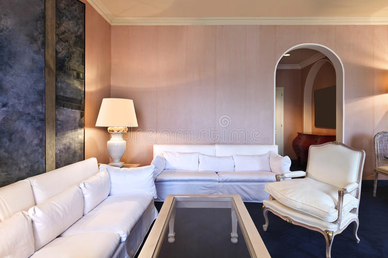 Comfortable suite, lounge royalty free stock image
