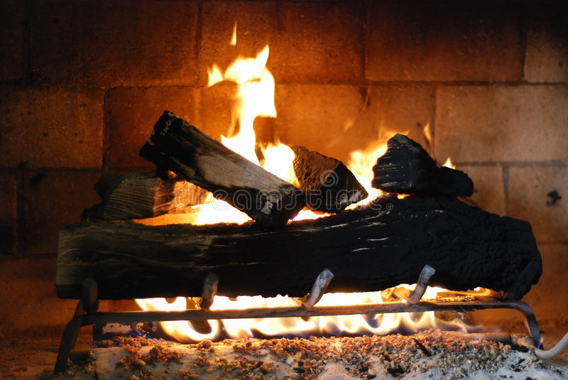 Comforting Fireplace Royalty Free Stock Image