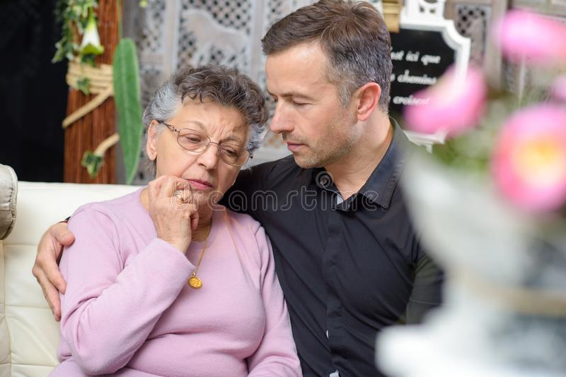 Comforting a love one royalty free stock image