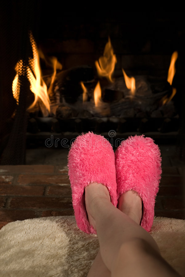 Comfy feet royalty free stock image