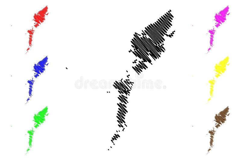 Вектор карты Comhairle Nan Eilean Siar бесплатная иллюстрация