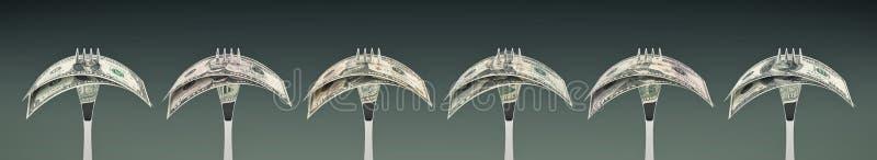 Comiéndodólar - concepto de éxito empresarial stock de ilustración