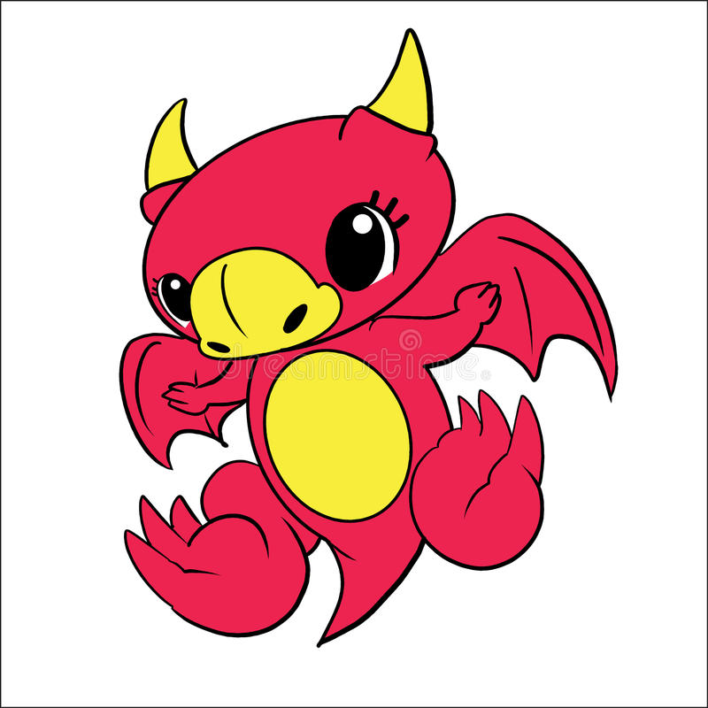 Comic Baby Dragon Royalty Free Stock Image