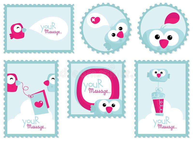 Download Comic Bird Stickers Stock Image - Image: 19602321