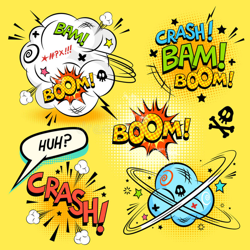 Comic Book Actions vector illustration