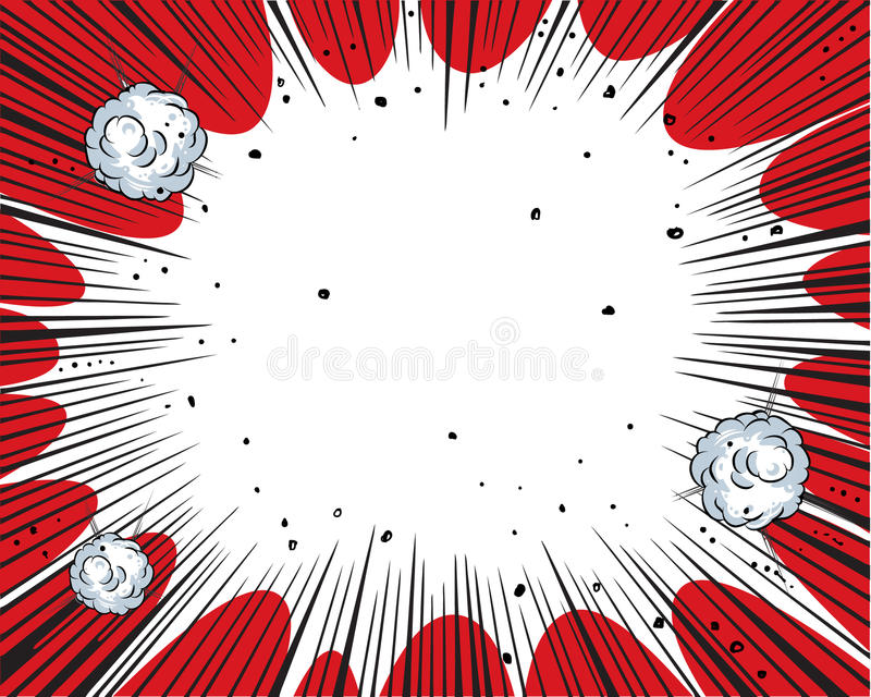 Comic book background vector illustration