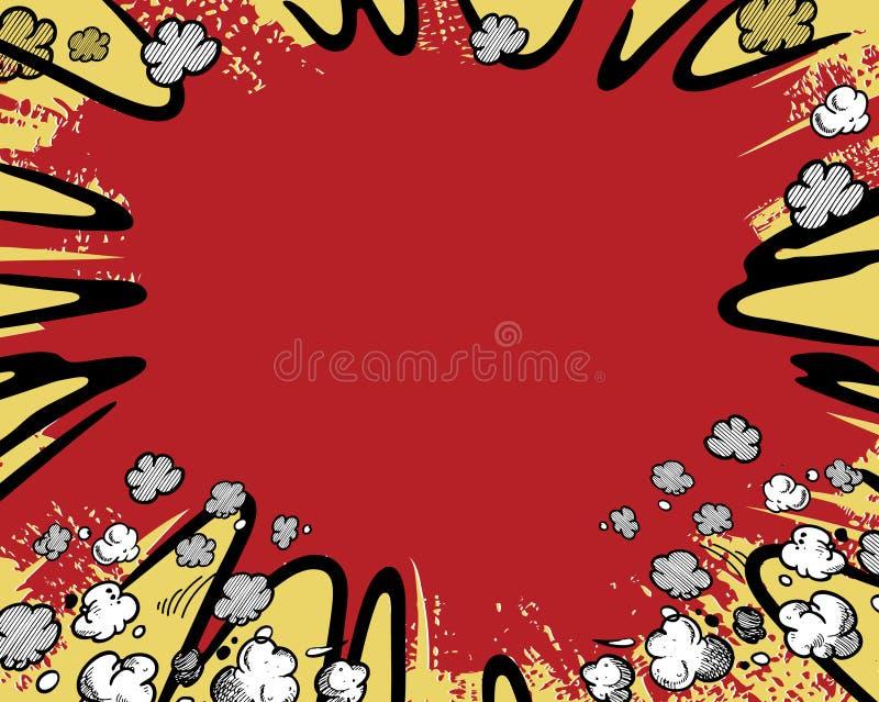 Comic book background vector illustration