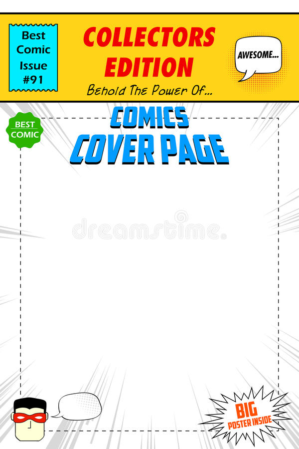 Book Cover Art Styles : Comic book cover stock vector illustration of