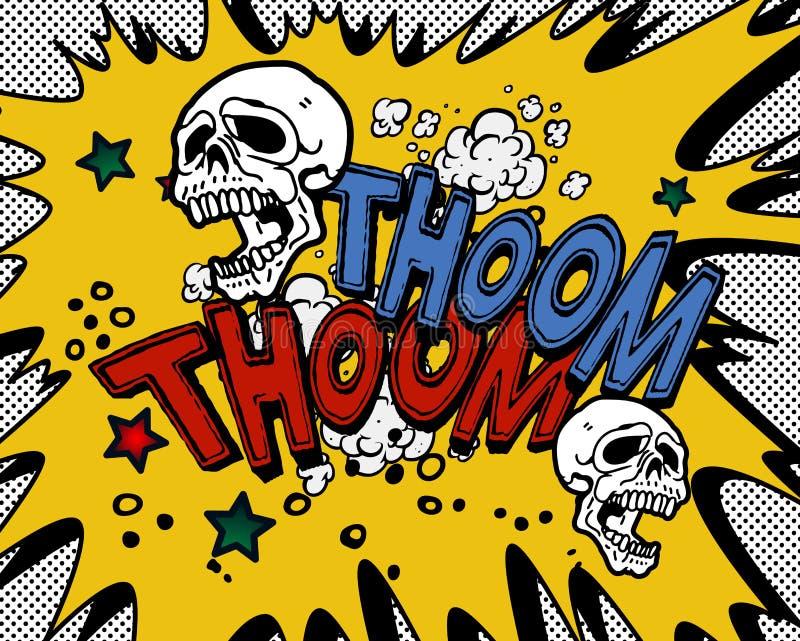 Comic book explosion stock illustration