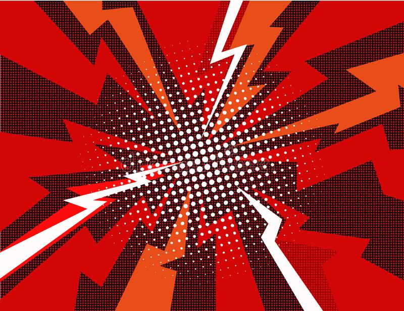 Comic book explosion ray background vector illustration vector illustration