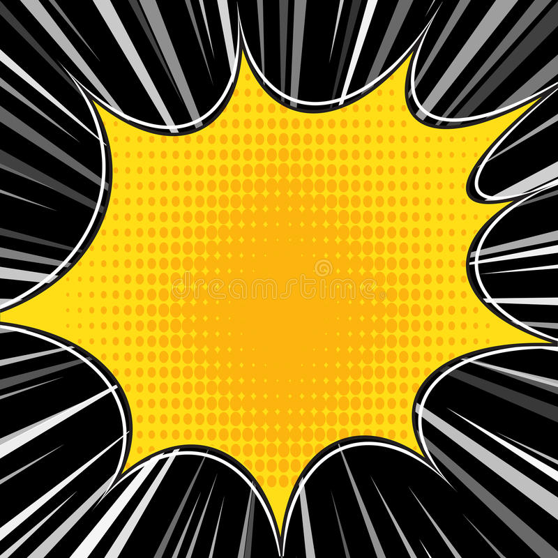 Comic book explosion superhero pop art style radial lines background. Manga or anime speed frame.  vector illustration
