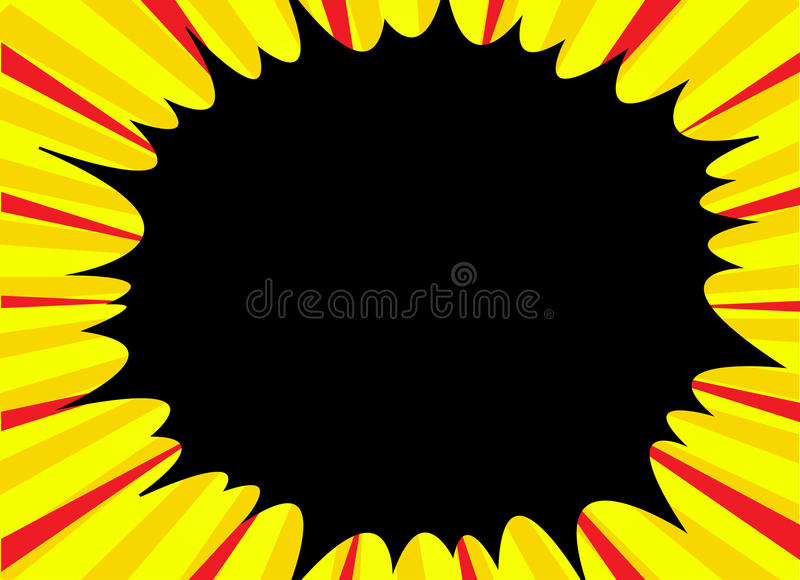 Comic book explosion superhero pop art style radial lines background. Manga or anime speed frame.  stock illustration