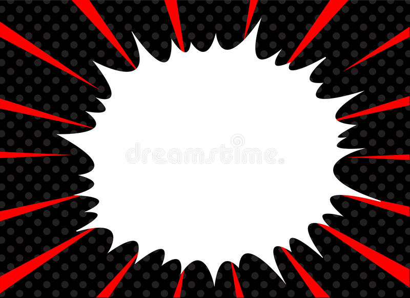 Comic book explosion superhero pop art style radial lines background. Manga or anime speed frame stock photos