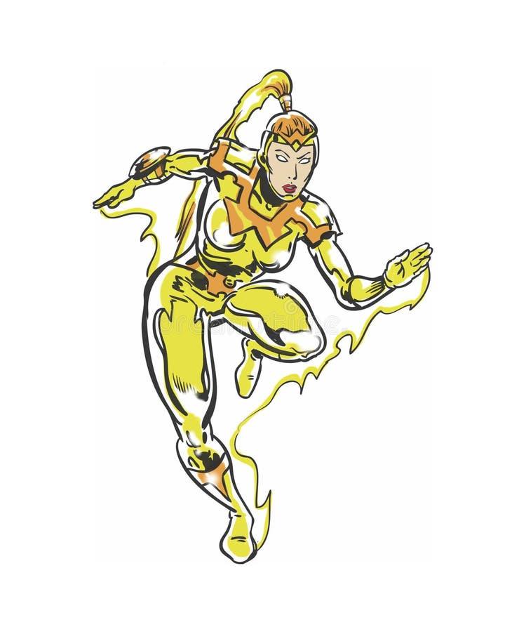 Download Comic Book Illustrated Female Runner Speedster Character Stock Illustration - Image: 83715939