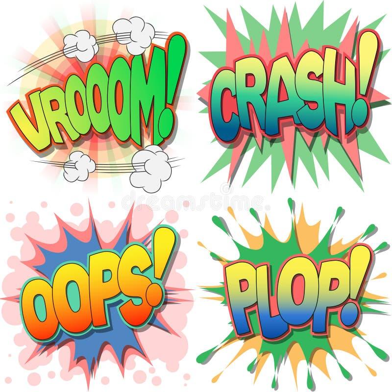 Download Comic Book Illustrations stock vector. Illustration of vroom - 25418967