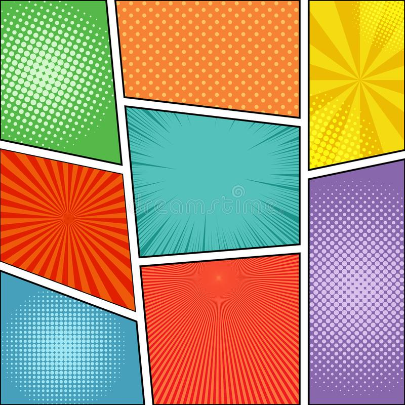 Comic book page background stock vector. Illustration of border ...
