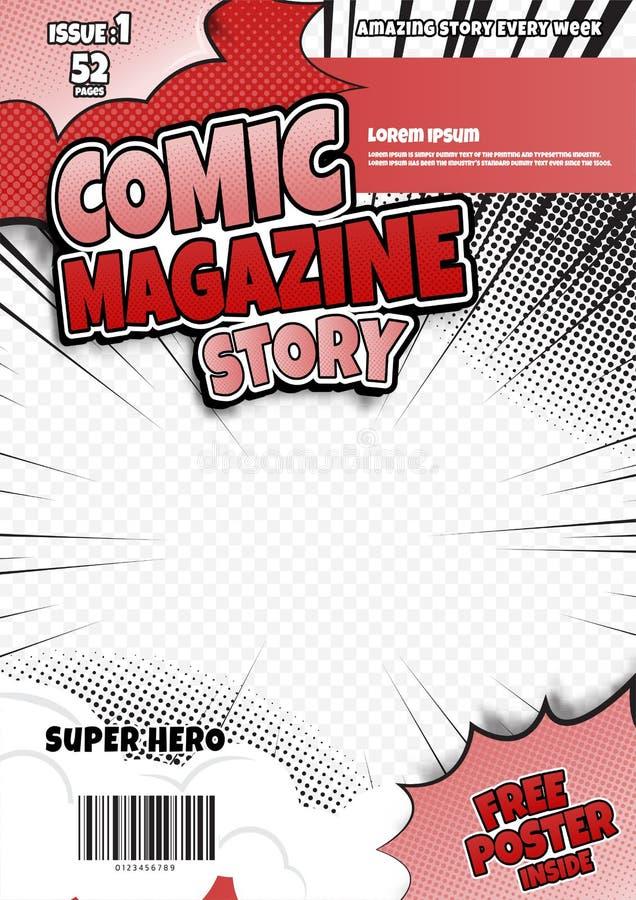 Free Comic Book Page Template Design. Magazine Cover Stock Photo - 164464840