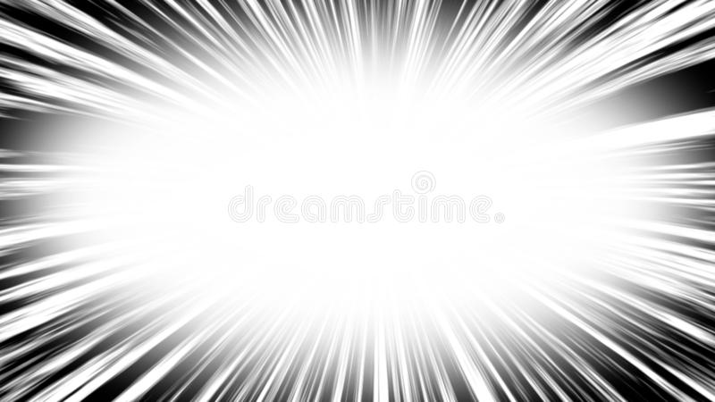 Comic book radial lines background. Manga speed frame. Explosion illustration. Star burst or sun rays abstract backdrop vector illustration