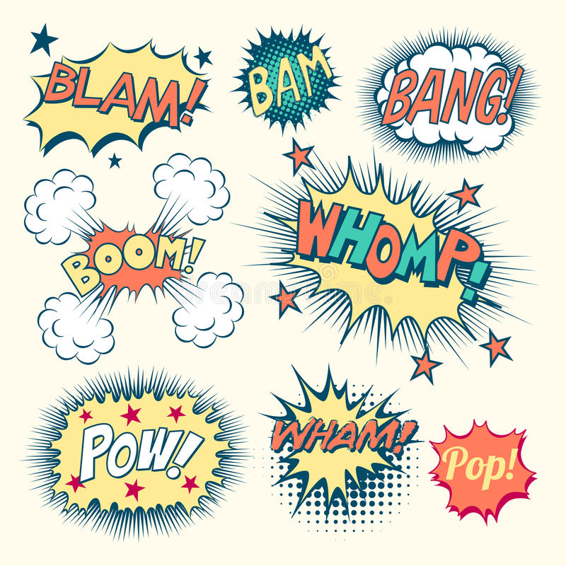 Comic Book Sound Effects vector illustration