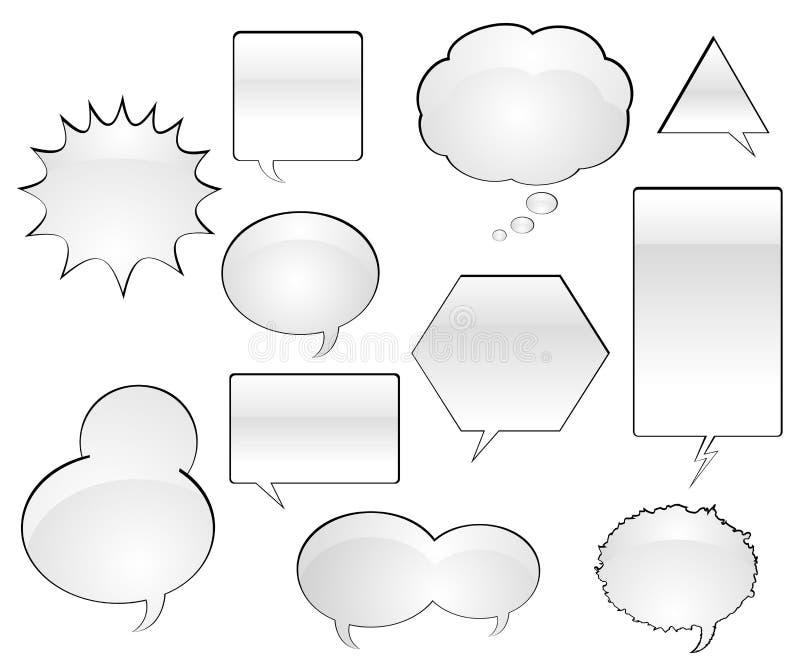Comic Book Speech Balloons. Various Comic Book Speech Balloons - Vector Illustration royalty free illustration