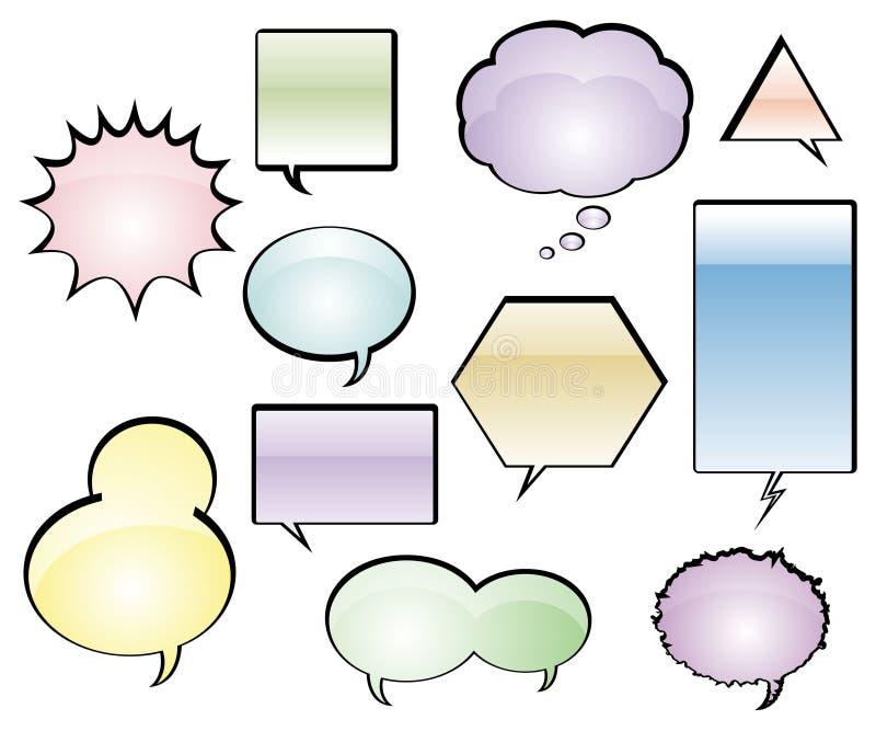 Comic Book Speech Balloons. Various Comic Book Speech Balloons - Vector Illustration stock illustration