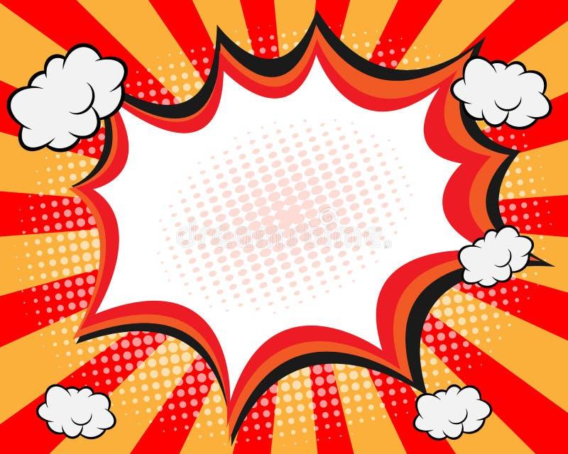 Comic Book Speech Bubble stock illustration