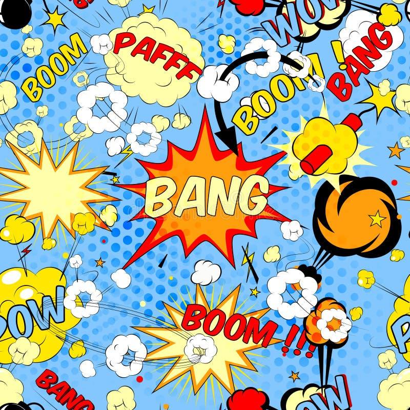Comic book speech bubbles stock illustration