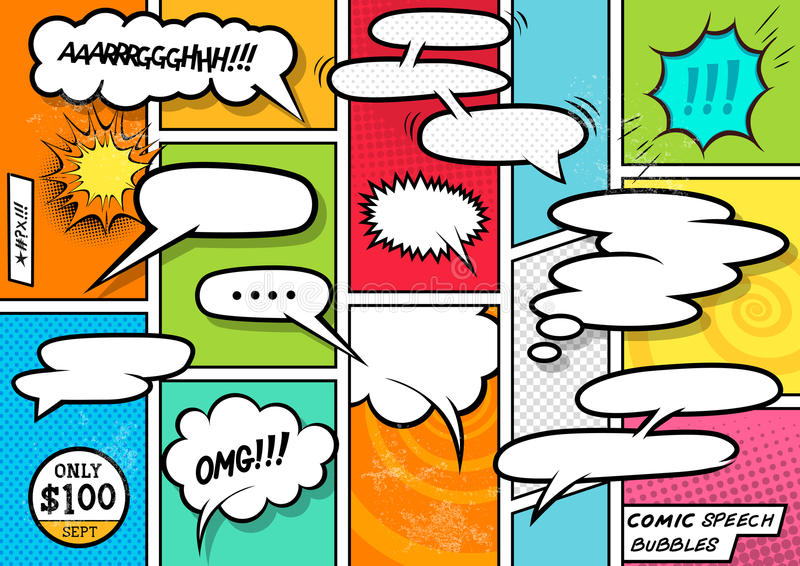 Comic Book Speech Bubbles royalty free illustration