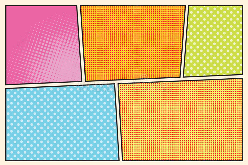 Comic Book Storyboard Style Pop Art Stock Vector  Illustration Of