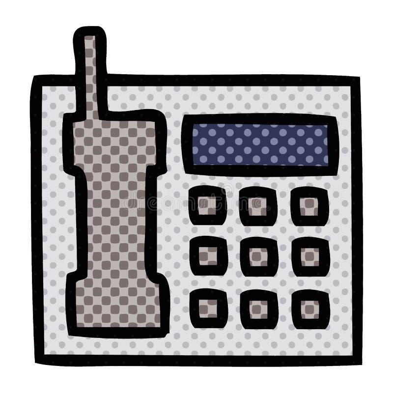 Comic book style cartoon telephone. A creative illustrated comic book style cartoon telephone royalty free illustration