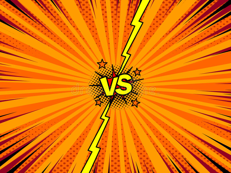 Comic book versus template background royalty free illustration