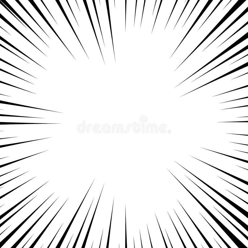 Comic book white and black radial lines background. Superhero action, explosion background, manga speed frame, vector illustration.  vector illustration