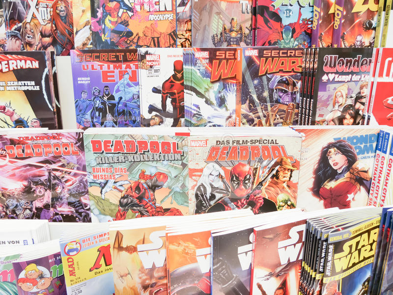 Comic books stock images