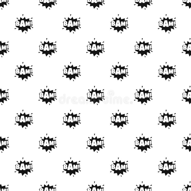 Comic boom bam pattern seamless vector royalty free illustration