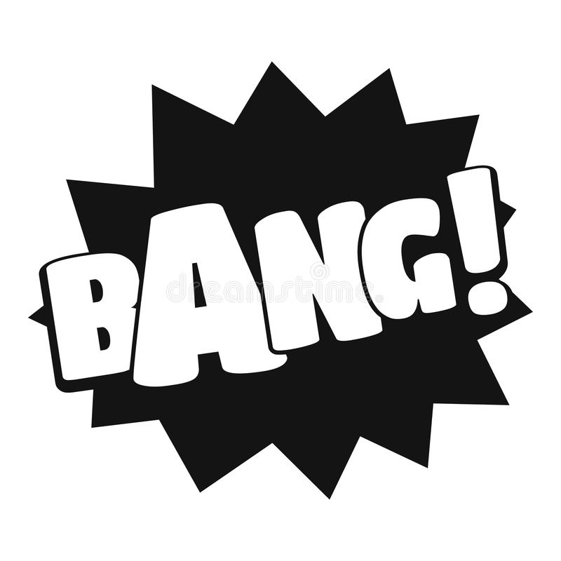 Comic boom bang icon, simple black style vector illustration