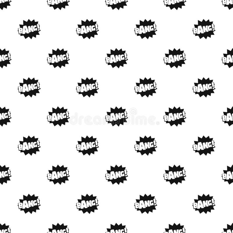 Comic boom bang pattern seamless vector stock illustration