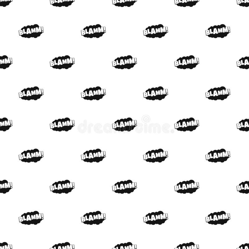 Comic boom blamm pattern seamless vector vector illustration