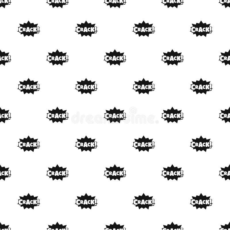 Comic boom crack pattern seamless vector royalty free illustration