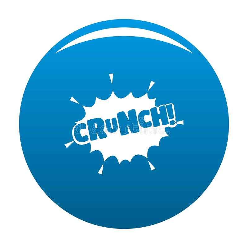 Comic boom crunch icon blue vector. Comic boom crunch icon vector blue circle isolated on white background royalty free illustration