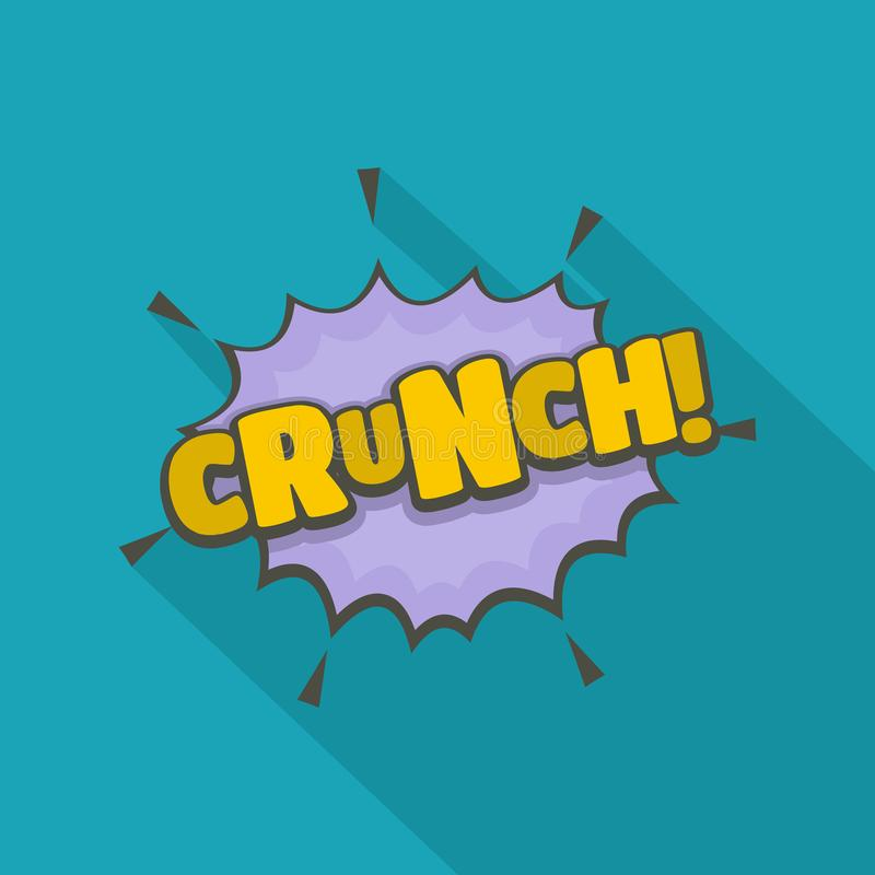 Comic boom crunch icon, flat style. Comic boom crunch icon. Flat illustration of comic boom crunch vector icon for web royalty free illustration