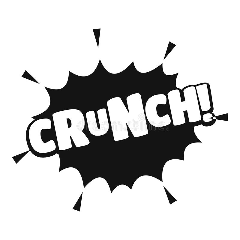 Comic boom crunch icon, simple black style. Comic boom crunch icon. Simple illustration of comic boom crunch vector icon for web vector illustration