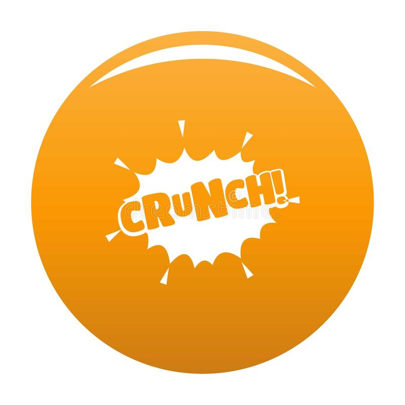 Comic boom crunch icon vector orange. Comic boom crunch icon. Simple illustration of comic boom crunch vector icon for any design orange stock illustration