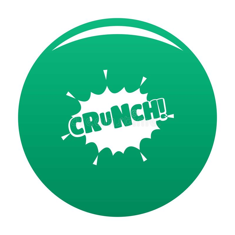 Comic boom crunch icon vector green. Comic boom crunch icon. Simple illustration of comic boom crunch vector icon for any design green stock illustration