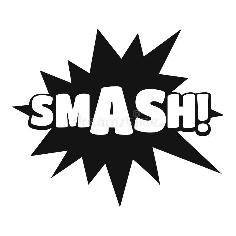 Comic boom smash icon, simple black style vector illustration